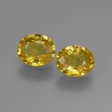 thumb image of 1.6ct Oval Facet Yellow Golden Sapphire (ID: 443538)