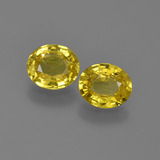 thumb image of 1.6ct Oval Facet Yellow Golden Sapphire (ID: 443544)