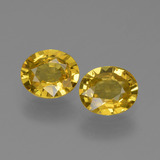 thumb image of 1.3ct Oval Facet Yellow Golden Sapphire (ID: 443606)