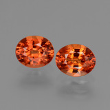 thumb image of 1.5ct Oval Facet Orange Sapphire (ID: 443704)