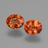 thumb image of 1.4ct Oval Facet Orange Sapphire (ID: 443705)