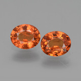 thumb image of 0.7ct Oval Facet Orange Sapphire (ID: 443709)