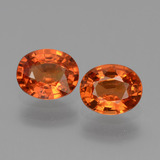 thumb image of 1.6ct Oval Facet Orange Sapphire (ID: 443710)