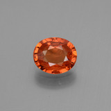 thumb image of 0.8ct Oval Facet Orange Sapphire (ID: 443736)
