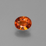 thumb image of 0.7ct Oval Facet Orange Sapphire (ID: 443871)