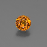 thumb image of 0.7ct Round Facet Medium-Dark Orange Sapphire (ID: 443921)