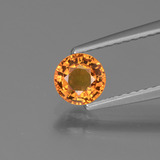 thumb image of 0.7ct Round Facet Yellow Golden Sapphire (ID: 443926)