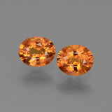 thumb image of 1.5ct Oval Facet Yellow Orange Sapphire (ID: 443943)