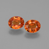 thumb image of 1.4ct Oval Facet Orange Sapphire (ID: 443946)