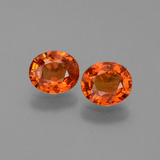 thumb image of 1.4ct Oval Facet Orange Sapphire (ID: 443948)