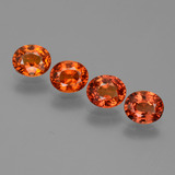 thumb image of 3.6ct Oval Facet Orange Sapphire (ID: 443952)