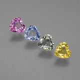 thumb image of 2.2ct Heart Facet Multicolor Sapphire (ID: 444123)