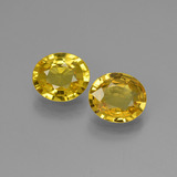 thumb image of 1.3ct Oval Facet Yellow Golden Sapphire (ID: 444187)