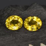 thumb image of 1.6ct Oval Facet Yellow Golden Sapphire (ID: 444188)