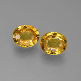 thumb image of 1.3ct Oval Facet Golden Yellow Sapphire (ID: 444255)