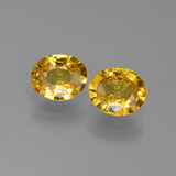 thumb image of 1.3ct Oval Facet Golden Yellow Sapphire (ID: 444257)
