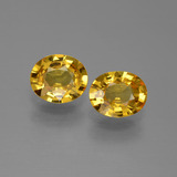 thumb image of 1.2ct Oval Facet Golden Yellow Sapphire (ID: 444258)