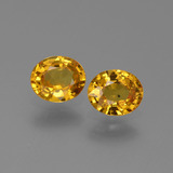 thumb image of 1.3ct Oval Facet Golden Yellow Sapphire (ID: 444331)