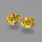 thumb image of 1.4ct Oval Facet Golden Yellow Sapphire (ID: 444334)