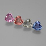 thumb image of 2.1ct Heart Facet Multicolor Sapphire (ID: 444367)