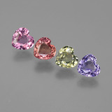 thumb image of 3.2ct Heart Facet Multicolor Sapphire (ID: 444373)