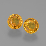 thumb image of 1.3ct Round Facet Golden Yellow Sapphire (ID: 444377)