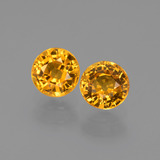 thumb image of 1.4ct Round Facet Yellow Golden Sapphire (ID: 444381)