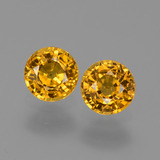 thumb image of 1.4ct Round Facet Yellow Golden Sapphire (ID: 444384)