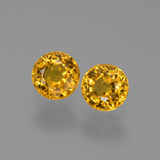 thumb image of 1.3ct Round Facet Golden Yellow Sapphire (ID: 444385)