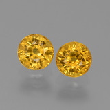 thumb image of 0.7ct Round Facet Deep Golden Orange Sapphire (ID: 444386)