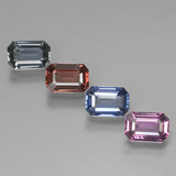 thumb image of 2.6ct Octagon Facet Multicolor Sapphire (ID: 444395)