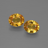 thumb image of 1.2ct Oval Facet Golden Yellow Sapphire (ID: 444563)