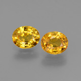 thumb image of 1.7ct Oval Facet Golden Yellow Sapphire (ID: 444634)