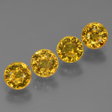 thumb image of 2.6ct Round Facet Golden Yellow Sapphire (ID: 444706)