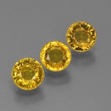 thumb image of 2ct Round Facet Yellow Golden Sapphire (ID: 444710)