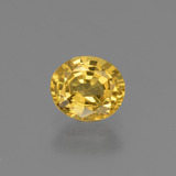 thumb image of 0.7ct Oval Facet Golden Yellow Sapphire (ID: 444754)