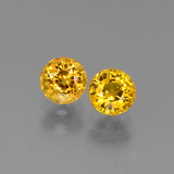 thumb image of 1.4ct Round Facet Yellow Golden Sapphire (ID: 445185)