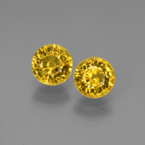 thumb image of 1.4ct Round Facet Yellow Golden Sapphire (ID: 445187)