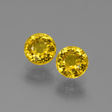 thumb image of 1.6ct Round Facet Yellow Golden Sapphire (ID: 445384)