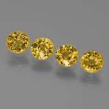 thumb image of 2.4ct Round Facet Yellow Golden Sapphire (ID: 445510)