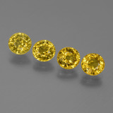 thumb image of 2.9ct Round Facet Yellow Golden Sapphire (ID: 445512)
