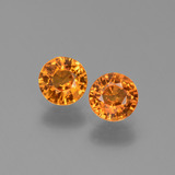 thumb image of 1.2ct Round Facet Yellow Orange Sapphire (ID: 446256)