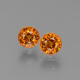 thumb image of 1.5ct Round Facet Yellow Orange Sapphire (ID: 446257)