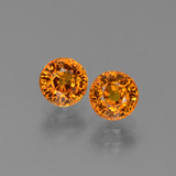 thumb image of 1.5ct Round Facet Yellow Orange Sapphire (ID: 446258)