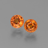 thumb image of 1.7ct Round Facet Orange Sapphire (ID: 446259)