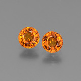 thumb image of 1.1ct Round Facet Orange Sapphire (ID: 446260)