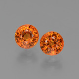 thumb image of 1.4ct Round Facet Orange Sapphire (ID: 446265)