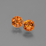 thumb image of 1.5ct Round Facet Yellow Orange Sapphire (ID: 446282)
