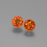 thumb image of 1.4ct Round Facet Orange Sapphire (ID: 446285)
