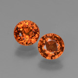 thumb image of 1.3ct Round Facet Orange Sapphire (ID: 446327)